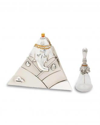 Pyramid Ganesha + Glass Bell